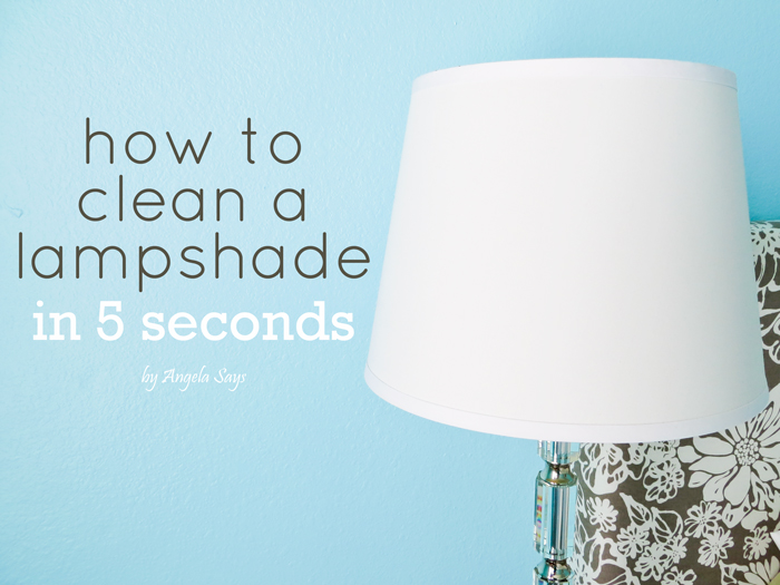 clean a fabric lampshade